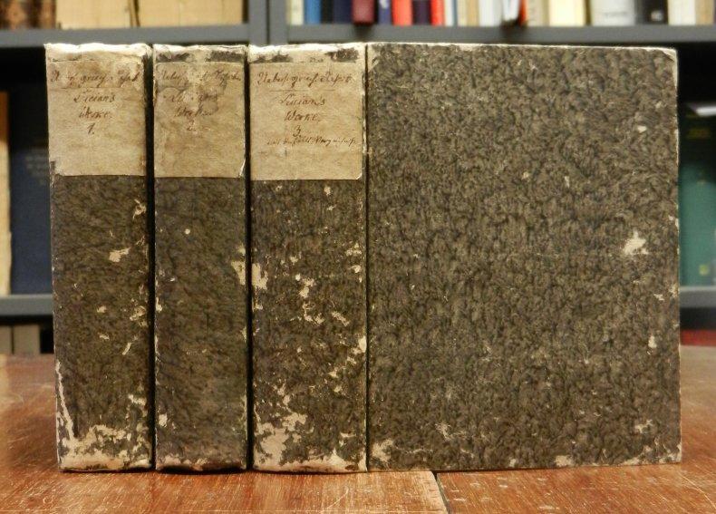 Lukian von Samosata: Lucians/Lucian's Werke, übersetzt von August Pauly. Erstes (1.) bis Fünfzehntes (15.) Bändchen cplt. in 3 Büchern.