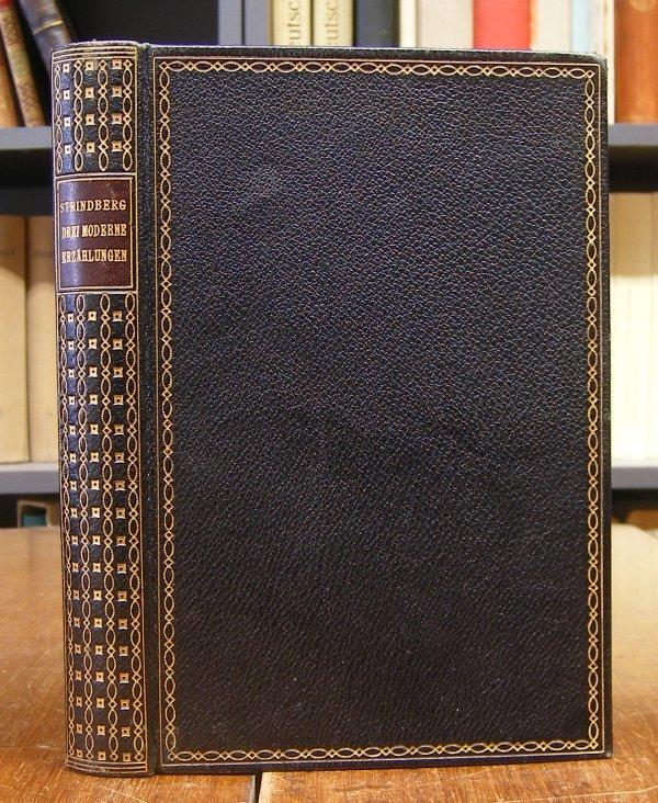 Strindberg, August: Drei moderne Erzählungen. Verdeutscht von Emil Schering. Fünfte Auflage. Mit einem Frontispiz.