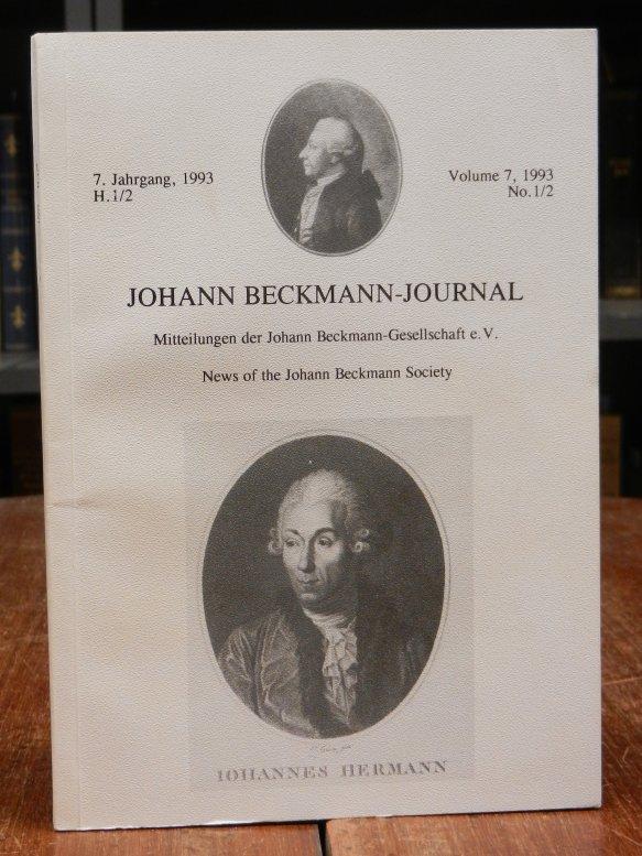 Johann Beckmann Journal. Mitteilungen der Johann Beckmann Gesellschaft. 7. Jahrgang, Heft 1/2 (Doppelheft).