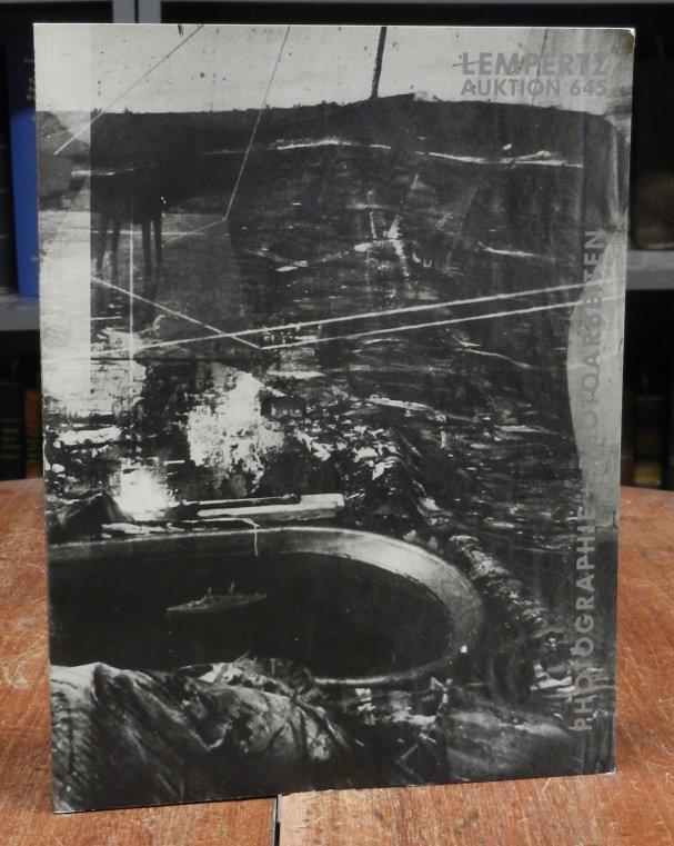 Lempertz: Lempertz Auktion 645: Photographie und Photoarbeiten am 20. November 1989. Mit einer orig. Heliogravüre von Jürgen Klauke