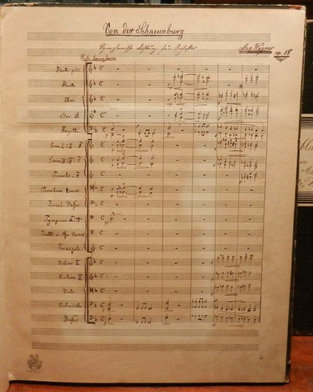 Wagner, Max: Orig. Notenhandschrift: Von der Schauenburg. Sinfonische Dichtung. Op. 18. Orig. Notenhandschrift (Orchester-Partitur) Wagners auf 61 Seiten, beendet in Berlin am 14. Mai 1891.
