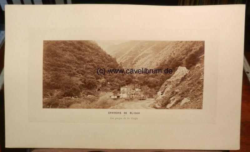 Algérie / Algeria / Algerien - Neurdein, E. (Etienne): Environs de Blidah (Blida). Les gorges de la Chiffa. Vues panoramique, No. 278. / Surroundings of Blidah (Blida). The gorges of La Chiffa. Panorma views, nr. 278. Orig. Albumen print / Albumine. Vi...