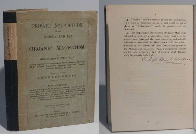 Hunt Wallace, Chandos Leigh: Private Instructions in the Science and Art of Organic Magnetism. Third Edition.