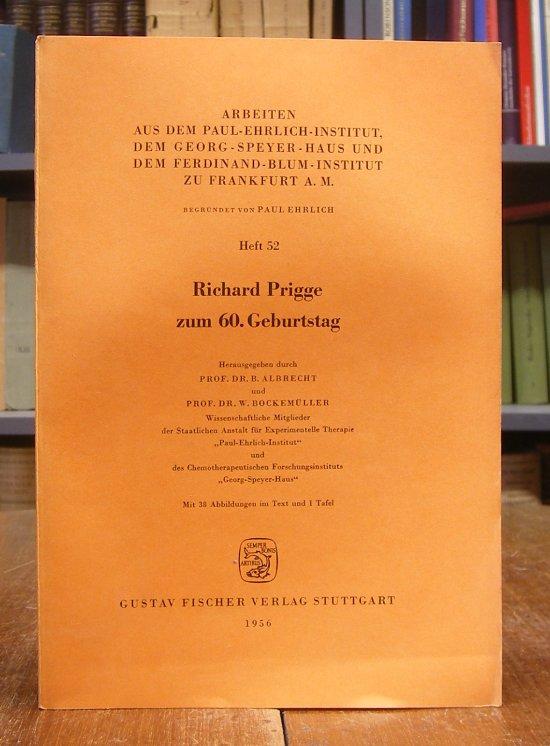 Albrecht, B. / W. Bockemüller (Hg.): Richard Prigge zum 60. Geburtstag. Mit 38 Abbildungen im Text und 1 Tafel.