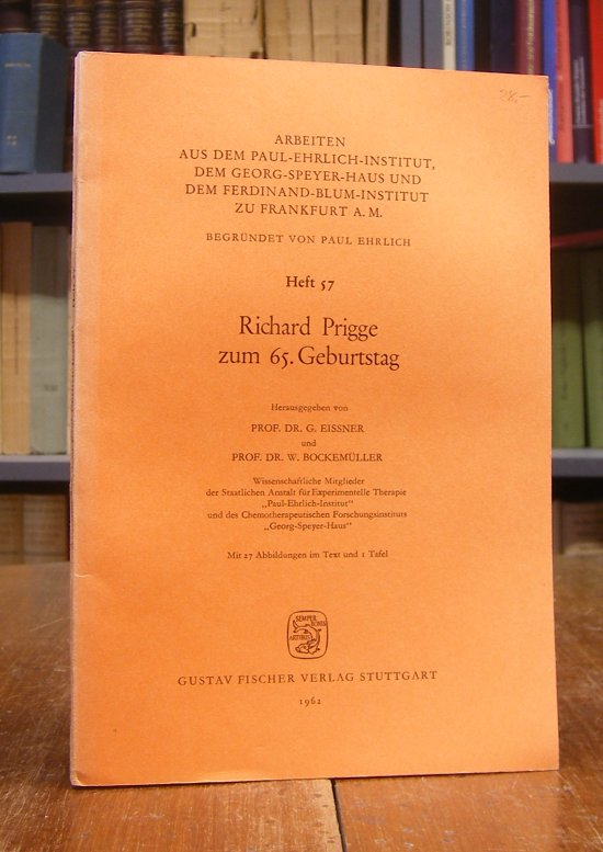 Eissner, G. / W. Bockemüller (Hg.): Richard Prigge zum 65. Geburtstag. Mit 27 Abbildungen im Text und 1 Tafel.