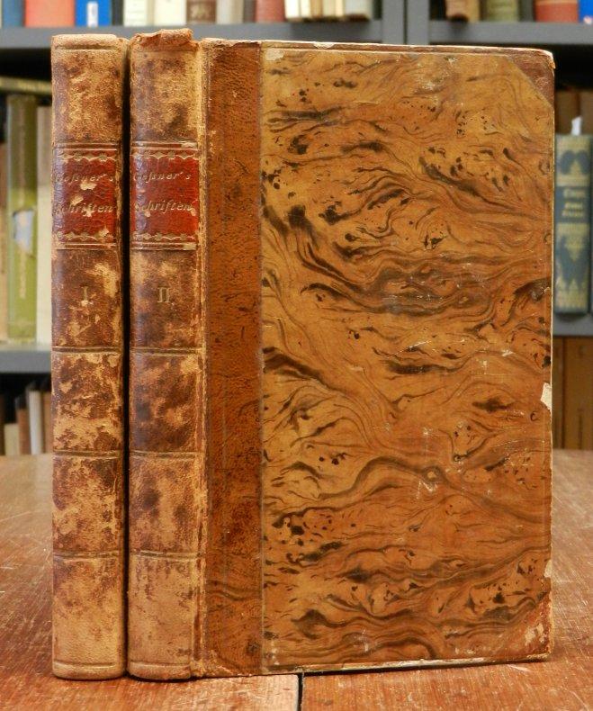 Gessner, Salomon: Geßners Schriften. Mit je einer Titelvignette. 2 Bände cplt. in zwei Bänden.