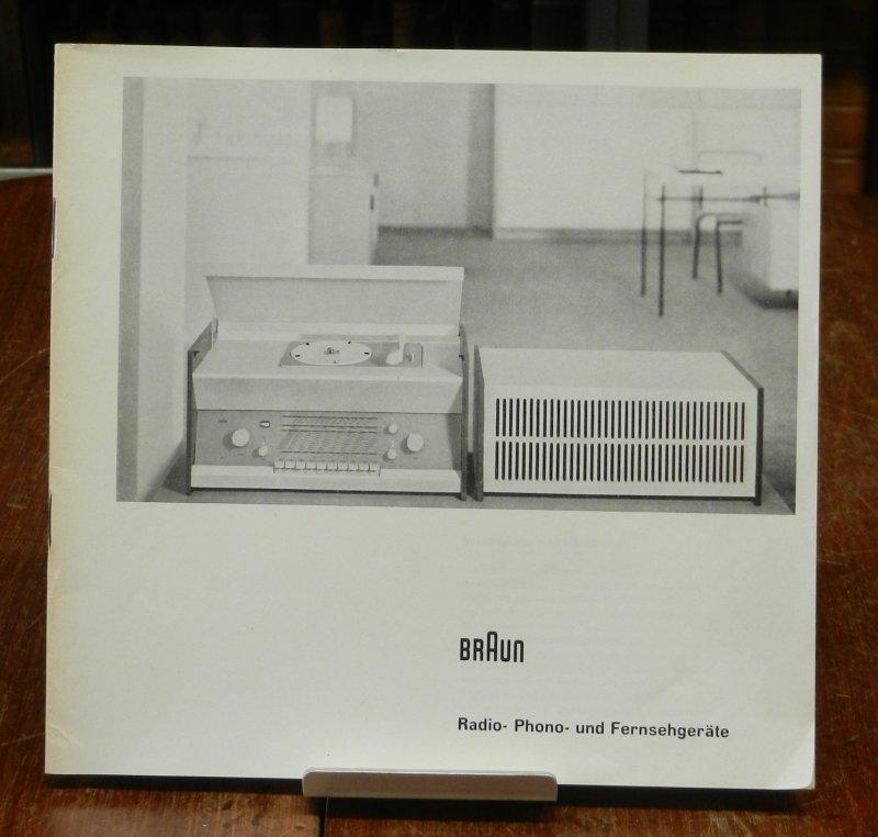 Max Braun / Dieter Rams: Radio-Phono- und Fernsehgeräte . Orig. Verkaufsbroschüre mit Preisen, Stand September 1957
