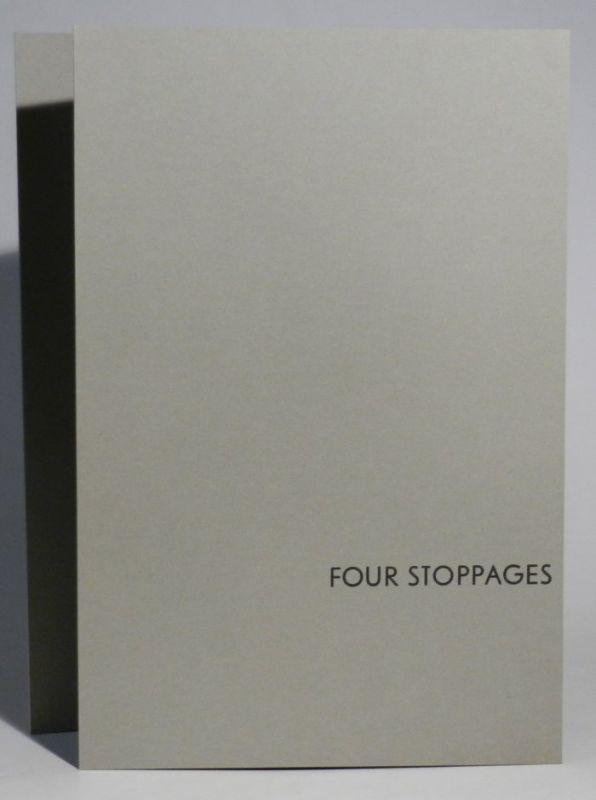 Williams, Jonathan / Charles Oscar: Four Stoppages. A Configuration. Verse: Jonathan Williams & graphics: Charles Oscar. Orig. Leporello mit 4 Graphiken von Charles Oscar, der Text in rot und schwarz.