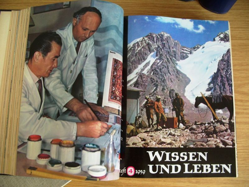 Zeitschrift Wissen und Leben, Jahrgänge 1958-1962, gebunden, DDR 1