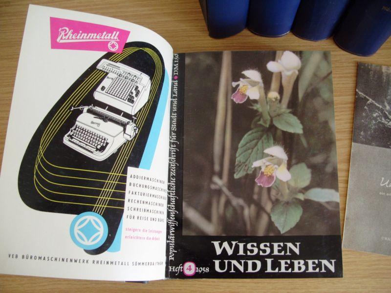Zeitschrift Wissen und Leben, Jahrgänge 1958-1962, gebunden, DDR 2