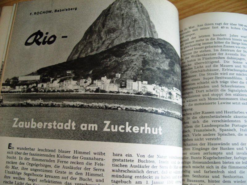 Zeitschrift Wissen und Leben, Jahrgänge 1958-1962, gebunden, DDR 5