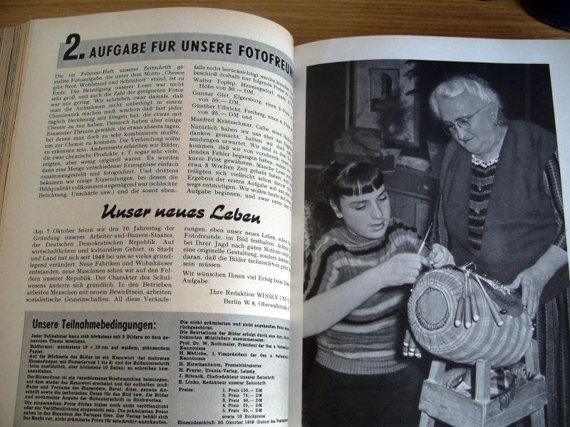 Zeitschrift Wissen und Leben, Jahrgänge 1958-1962, gebunden, DDR 6