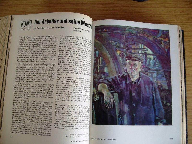 Zeitschrift Wissen und Leben, Jahrgänge 1958-1962, gebunden, DDR 7