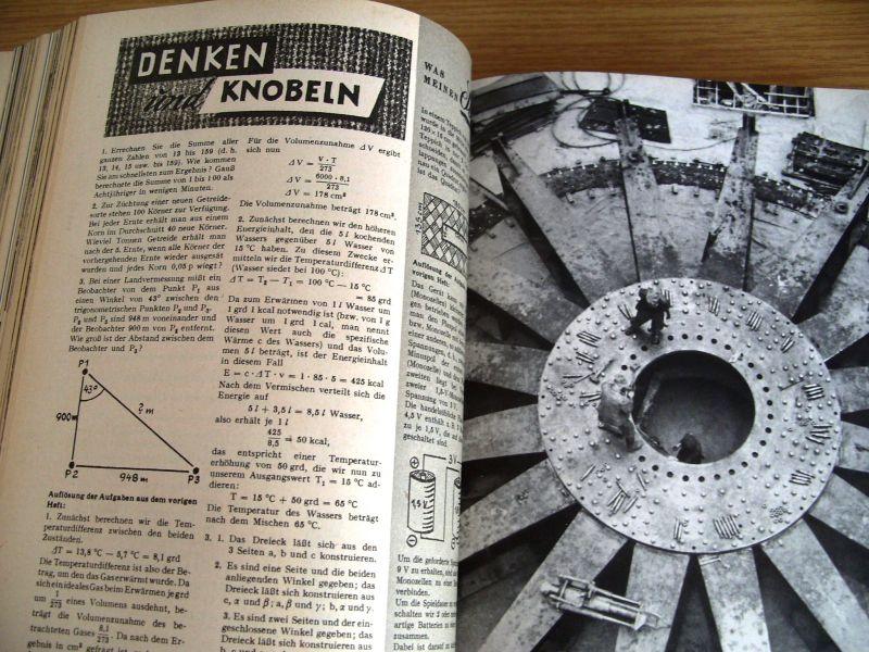 Zeitschrift Wissen und Leben, Jahrgänge 1958-1962, gebunden, DDR 8