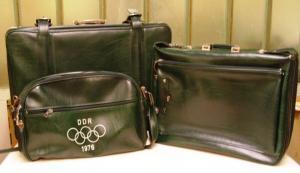 Werbung: Kofferset der DDR-Olympiamannschaft Montreal 1976