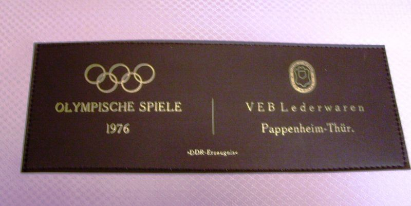 Werbung: Kofferset der DDR-Olympiamannschaft Montreal 1976 5