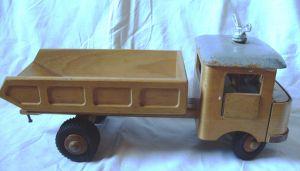 Antikes Spielzeug: Holzspielzeug - Lkw, Kipper, lenkbar - Fröbel-Holzspielzeug  Werdau, DDR, 60er/ 70er Jahre