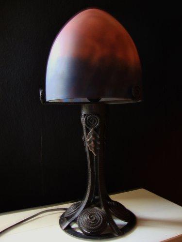 Art Nouveau Pilz Lampe Frankreich Jugendstil 2