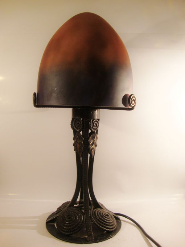 Art Nouveau Pilz Lampe Frankreich Jugendstil 4