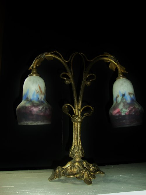 Muller Freres Art Nouveau Tischlampe