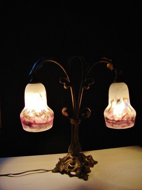 Muller Freres Art Nouveau Tischlampe 1