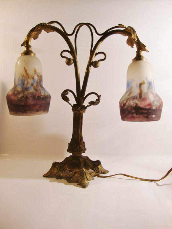 Muller Freres Art Nouveau Tischlampe 5