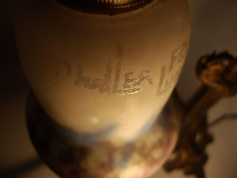 Muller Freres Art Nouveau Tischlampe 7
