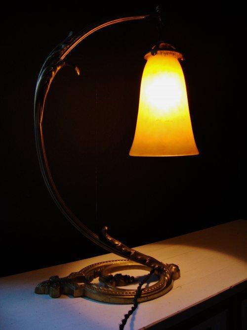 Art Nouveau Tischlampe Daum Nancy France Jugendstil