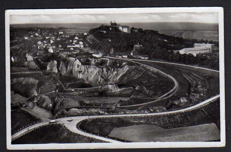 Ansichtskarte Sankt Annaberg O./ S. Luftbild 1934 Peiskretscham Pyskowice