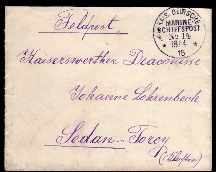 Brief Marine Schiffspost Nr. 14 1915