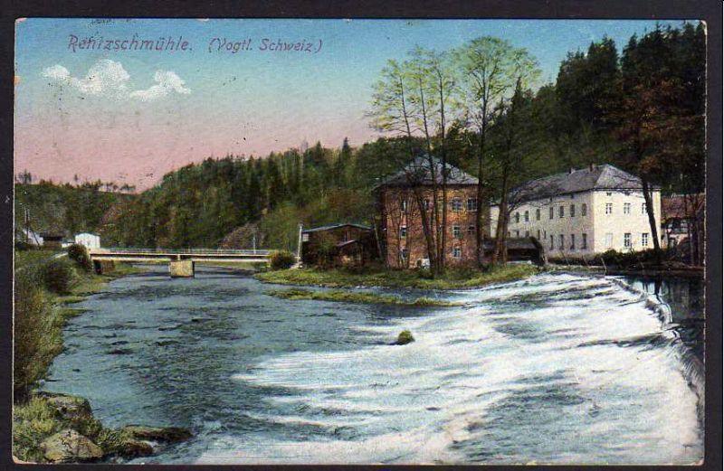 Ansichtskarte Rentzschmühle Vogtl. Schweiz Plauen 1916