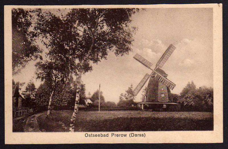 Ansichtskarte Prerow Darss Windmühle Mole