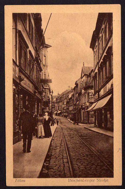 Ansichtskarte Zittau Reichenberger Straße 1945