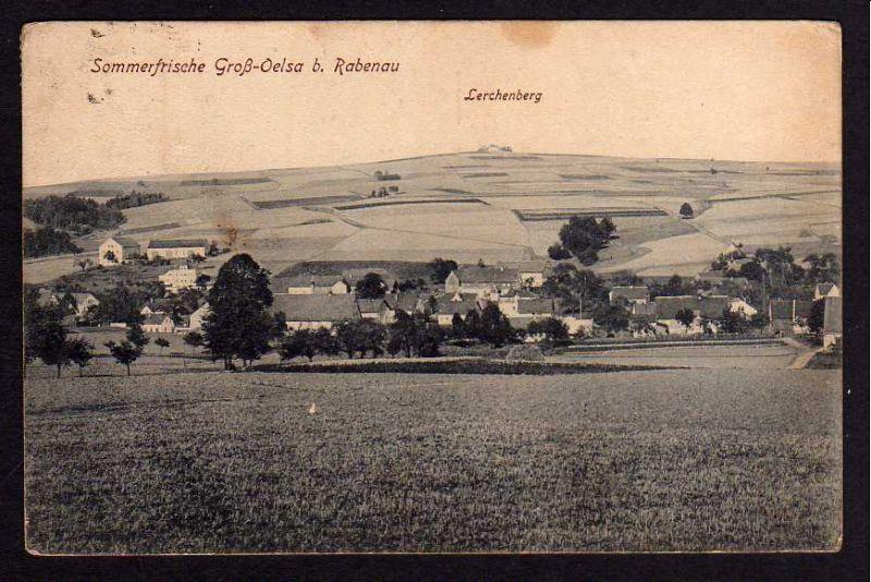 Ansichtskarte Groß Oelsa bei Rabenau Lerchenberg  1920