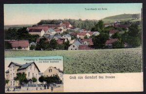 Ansichtskarte Gersdorf Bez. Dresden Postagentur Materialwarenhandlung Lippmann