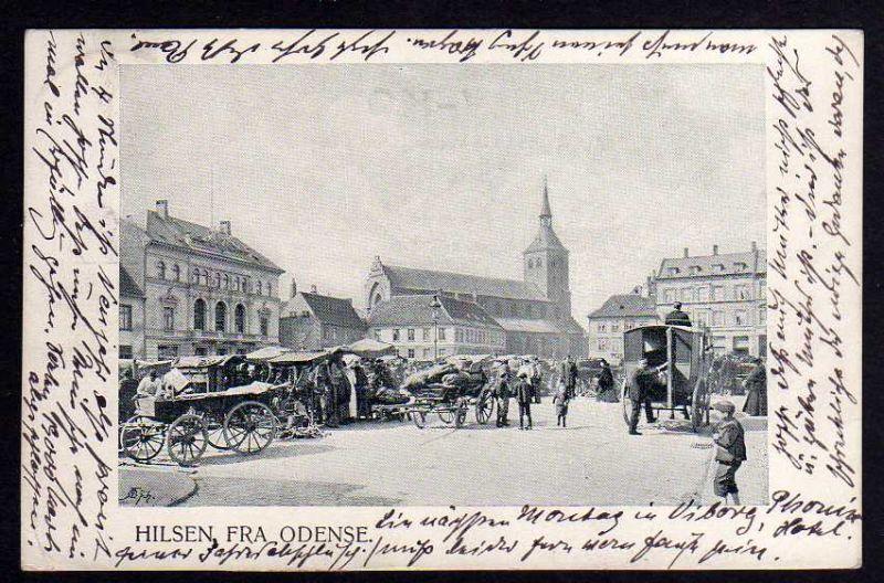 Ansichtskarte Hilsen fra Odense 1903