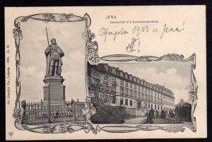 Ansichtskarte Jena Uni Kurfürstendenkmal 1905