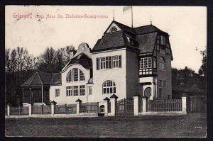 Ansichtskarte Erlangen neues haus des Studenten Gesangvereins 1912