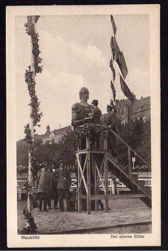 Ansichtskarte Neukölln Berlin Der eiserne Ritter Herzbergplatz