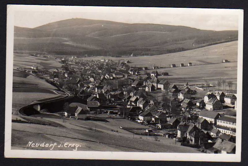 Ansichtskarte Neudorf Erzgebirge 1941 Sehmatal