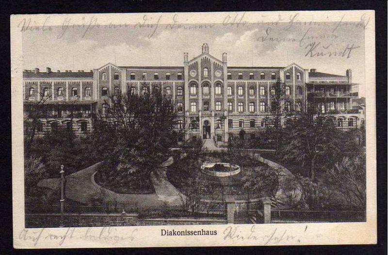 Ansichtskarte Halle Saale Diakonissenhaus 1926
