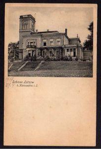 Ansichtskarte Schloss Lützow bei Kleinsedlitz 1917 Verlag Zentralwerkstätten Dresden