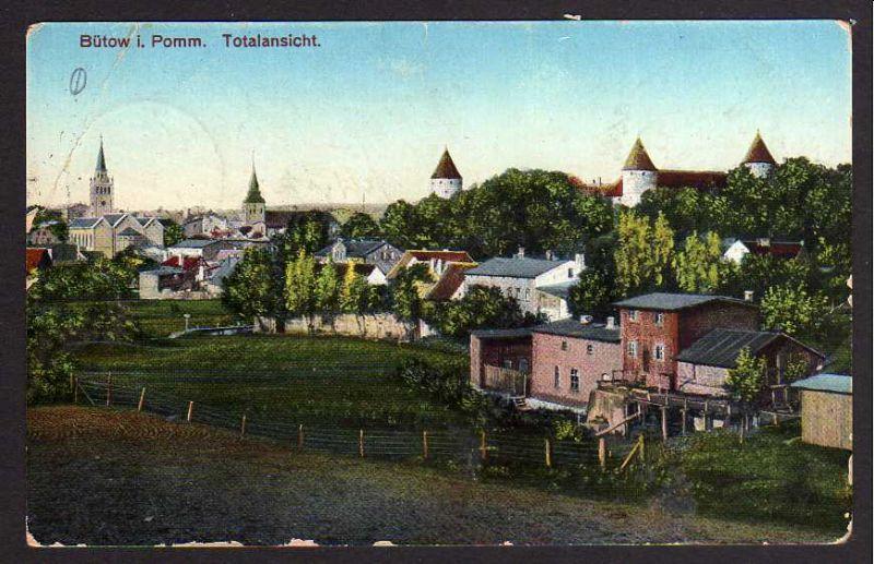 Ansichtskarte Bütow i Pomm. Bez. Köslin Bytow Totale1915 0