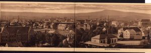 3teilige Klapp Ansichtskarte Bischofswerda Panorama