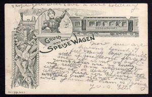 Ansichtskarte Deutsche Eisenbahn-Speisewagen Gesellschaft 1899