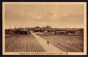 Ansichtskarte Gesamtansicht des Sächsischen Kinderheims in Wiek  Rügen ca. 1928
