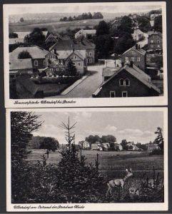 2 Ansichtskarte Ullersdorf über Dresden Conditorei Cafe Landpoststempel