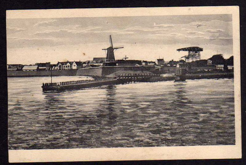 Ansichtskarte Sea Side Resort Flushing Oranje Windmill 1925