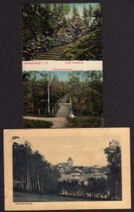2 Ansichtskarte Grevesmühlen Grotte tannenber Kammerherrnbrücke
