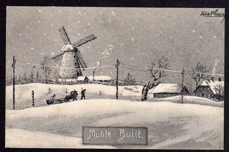 Ansichtskarte Mühle Windmühle Mole Bulle